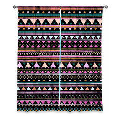 DiaNoche Designs - Window Curtains Unlined by Nika Martinez - Cool Tribal - Purchasing window curtains just got easier and better! Create a designer look to any of your living spaces with our decorative and unique unlined window curtains. Perfect for the living room, dining room or bedroom, these artistic curtains are an easy and inexpensive way to add color and style when decorating your home.  This is a tight woven poly material that filters outside light and creates a privacy barrier.  Each package includes two easy-to-hang, 3 inch diameter pole-pocket curtain panels.  The width listed is the total measurement of the two panels.  Curtain rod sold separately. Easy care, machine wash cold, tumbles dry low, iron low if needed.