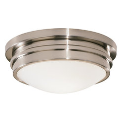 Robert Abbey - Roderick Flush Mount Light - Clean and versatile, this flushmount light is stunning in its simplicity. With a white frosted glass shade, an array of lovely finishes to choose from and an elegant contemporary shape, it's sure to shine wherever you put it.