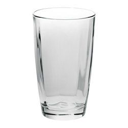 """Vietri - Vietri Optical Set of 4 High Ball Crystal Glasses 5.5""""H, 14 oz, Smoke Gray - The cool and sophisticated look of our clear high ball glass from our Optical drinkware collection will add elegance to your tablesetting. Use it for iced tea, mixed cocktails or lemonade. Handcrafted in Naples, Italy and dishwasher safe!"""