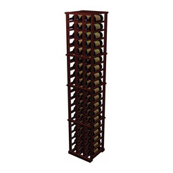 Wine Cellar Innovations - Designer Wine Rack - 3 Column Individual - The 3 Column Individual Bottle wooden wine rack supports the same design as the 5 Column Individual Bottle wine rack, but in a smaller width. Each bottle is cradled on two rails that are cut with beveled ends and rounded edges which ensure the labels will not tear when the bottles are removed. The 3 Column Individual Bottle wooden wine rack is 3 columns wide x 19 rows high. Product requires assembly. Please note: molding packages are available separately.