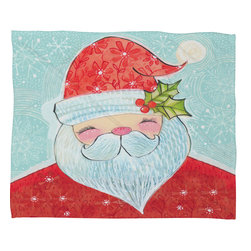 DENY Designs - DENY Designs Cori Dantini Sweet Santa Fleece Throw Blanket - This DENY fleece throw blanket may be the softest blanket ever! And we're not being overly dramatic here. In addition to being incredibly snuggly with it's plush fleece material, you can also add a photo or select a piece of artwork from the DENY Art Gallery, making it completely custom and one-of-a-kind! And when you've used it so much that it's time for a wash, no big deal, as it's machine washable with no image fading. Plus, it comes in three different sizes: 80x60 (big enough for two), 60x50 (the fan favorite) and the 40x30. With all of these great features, we've found the perfect fleece blanket and an original gift!