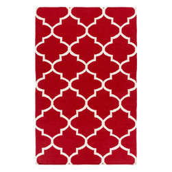 Artistic Weavers - Artistic Weavers York Mallory (Red) 5' x 8' Rug - This Hand Woven rug would make a great addition to any room in the house. The plush feel and durability of this rug will make it a must for your home. Free Shipping - Quick Delivery - Satisfaction Guaranteed