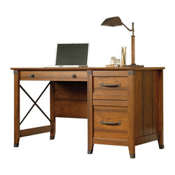Sauder - Sauder Carson Forge Desk in Washington Cherry - Sauder - Home Office Desks - 412920
