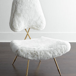 Maxime Shearling Lounge Chair -
