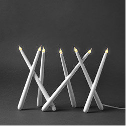 Joy Candlestick, White - I spotted this electric candlestick on Chez Larsson, so naturally I want it. Everything looks so good in her clean, clutter-free white home.