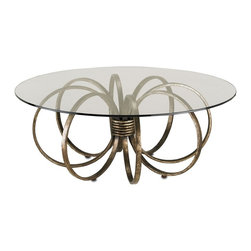 Currey & Co - Currey & Co 4155 Penthouse Pyrite Bronze Cocktail Table - Currey & Co 4155 Penthouse Pyrite Bronze Cocktail Table