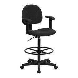 Flash Furniture - Flash Furniture Stool X-GG-SMRA-KLB-956-TB - Drafting Stools can be used in a multitude of environments including School, Work and for the Home. Not only is this chair great for drafting and regular office assignments it is also useful for people with disabilities who need a higher chair. Drafting stools make it easier for the user when they need or prefer more height to comfortably get in and out of chairs. This chair will satisfy your needs at an affordable price that can't compare! [BT-659-BLK-ARMS-GG]