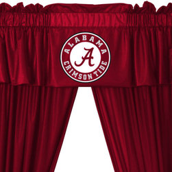 Store51 LLC - Alabama Crimson Tide 5pc Long Curtain-Drapes Valance Set - FEATURES: