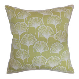 "The Pillow Collection - Laverne Floral Pillow Lime - Change up your interiors with this catchy throw pillow. This accent pillow will transform your living room, bedroom or kitchen with its unique floral print. This lime-hued square pillow is ideal for formal and casual settings. Combine this 18"" pillow with solids and other patterns for a contemporary look. Made from 100% top-quality cotton fabric. Hidden zipper closure for easy cover removal.  Knife edge finish on all four sides.  Reversible pillow with the same fabric on the back side.  Spot cleaning suggested."