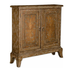 Uttermost - Uttermost 25526 Maguire Distressed Console Cabinet - Uttermost 25526 Maguire Distressed Console Cabinet