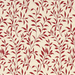 Red And Beige Floral Reversible Matelasse Upholstery Fabric By The Yard - This fabric is uniquely reversible, and the colors are inversed when flipping it over. Either side is great for upholstery, and it is rated heavy duty for lasting durability.