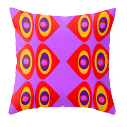 Crash Pad Designs - Modern Mid Century Inspired Accent Pillow - A fun pillow can change an entire room. Style your room with this mod & playful pillow. This pillow is Ned. On a sofa, a chair, or bed it's sure to make you smile. Double sided print pillow, made from 100% spun polyester poplin fabric w/ a hidden zipper closure & a polyester fill insert. Original Crash Pad Designs fabric.