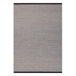 Surya - Gentle Hand Loomed Rug in Beige and Black (2' x 3') - Very classic and elegant rug in smoky gray palette is a great accessory for your modern home. Rug is weaved on the handloom from cotton leather and paper straw. The Gentle Hand Loomed Rug in Beige and Black is available in different sizes.    Features: