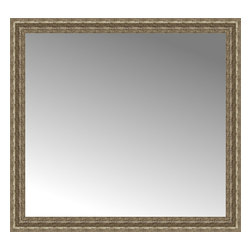 """Posters 2 Prints, LLC - 42"""" x 39"""" Sevilla Silver Custom Framed Mirror - 42"""" x 39"""" Custom Framed Mirror made by Posters 2 Prints. Standard glass with unrivaled selection of crafted mirror frames.  Protected with category II safety backing to keep glass fragments together should the mirror be accidentally broken.  Safe arrival guaranteed.  Made in the United States of America"""