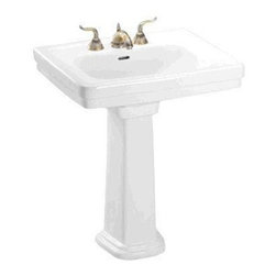 TOTO - TOTO LPT530N#01 Promenade Pedestal, Cotton White - TOTO LPT530N#01 Promenade Pedestal, Cotton White When it comes to Toto, being just the newest and most advanced product has never been nor needed to be the primary focus. Toto's ideas start with the people, and discovering what they need and want to help them in their daily lives. The days of things being pretty just for pretty's sake are over. When it comes to Toto you will get it all. A beautiful design, with high quality parts, inside and out, that will last longer than you ever expected. Toto is the worldwide leader in plumbing, and although they are known for their Toilets and unique washlets, Toto carries everything from sinks and faucets, to bathroom accessories and urinals with flushometers. So whether it be a replacement toilet seat, a new bath tub or a whole new, higher efficiency money saving toilet, Toto has what you need, at a reasonable price. TOTO LPT530N#01 Promenade Pede