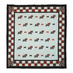 Patch Quilts - Scottie Twin Quilt - -Constructed of 100% Cotton  -Machine washable; gentle dry  -Made in India Patch Quilts - QTSCOT