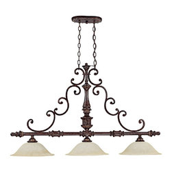 Capital Lighting - Capital Lighting 4153CB 3 Light Island FixtureChesterfield Collection - Beginning with design concepts from popular home fashions, they transform their ideas into lighting fixtures that blend timeless beauty with today's styling.