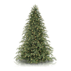 Balsam Hill - 7.5' Balsam Hill Brewer Spruce Artificial Christmas Tree - Clear - Designed to match the majestic beauty of the real Brewer Spruce, our 7.5-foot Balsam Hill Brewer Spruce Artificial Christmas Tree � Clear Lights showcases our signature True Needle™ foliage made more abundant with classic needles. Our prelit artificial Christmas tree features 750 lights, which can be switched on and off using a foot pedal, and 4,379 tips on nine layers of hinged branches. This holiday spectacle has a female tree topper cord to let you plug in your cherished top ornament. Our artificial tree is mounted firmly on a sturdy green metal tree stand and comes with a tree bag and two pairs of gloves to help you fluff, mount, unfluff, or store your favorite Balsam Hill masterpiece.Balsam Hill's mission is to create the world's most beautiful and realistic artificial Christmas trees. We are committed to providing our customers with a picture-perfect holiday. With options like remote-controlled pre-strung lights, our luxurious trees will let you sit back and enjoy Christmas to the fullest, this year and for years to come. Our trees are designed using branches from real trees, and our exclusive True Needle™ technology creates the most realistic looking and feeling branch tips. You and your guests may not believe that your gorgeous Balsam Hill Christmas tree is artificial. Balsam Hill's trees have won awards for their realism and have been featured in movies, television shows, and celebrity homes. Our wide range of styles and sizes ensures you will be able to find a tree that fits perfectly in your home. We also have a range of beautiful wreaths and garlands to put the finishing touches on your home this holiday season.