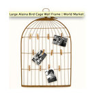 Large Alaina Bird Cage Wall Frame - My memories live in a birdcage, because I treasure them.