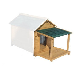 "Premium Pet - Porch and Deck ONLY for Insulated Dog Houses - Features: -Porch and Deck ONLY - Dog House Sold Separately!. -Natural finish. -Available in 4 sizes. -Beautiful addition to any back yard. -Solid tongue and groove cedar wood . -All terrain plastic adjustable feet for a true level home for your pet. -All necessary hardware including screw covers are included. -Solid tongue and groove cedar wood is naturally rot and insect resistant. -Each wall panel is pre-assembled with all weather galvanized screws for added strength. -Optional available porch and deck for added comfort and protection from the elements. -Assembly time is less than 25 minutes. Specifications: -Small: 12"" H x 17"" W x 25"" D. -Medium: 18"" H x 20"" W x 28"" D. -Large: 20.25"" H x 25"" W x 32"" D. -Extra Large: 23.25"" H x 32"" W x 39"" D."