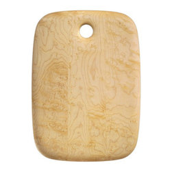 Maple Cutting Board Edward Wohl - Its curved edges echoed in the wood grain, Edward Wohl's maple cutting boards are simply beautiful.