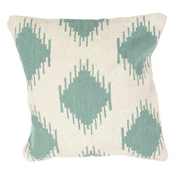 """Jaipur - Jaipur CD59 Pillow, 18""""x18"""" - Hand woven from 100% cotton the Cadiz pillow collection offers a range of open geometrics in bold color combinations. The collection coordinates with Jaipur Maroc and Urban bungalow flat weave rugs."""