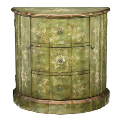 Sterling Lighting - Fauna Demilume Console Cabinet - Three storage drawers. Two doors. Made from MDF and metal. 34 in. W x 17 in. D x 33 in. H (64 lbs.)