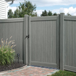 Bufftech Certagrain Chesterfield Arctic Blend Vinyl Privacy Fence - Certainteed Bufftech