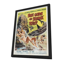 She Gods of Shark Reef 11 x 17 Movie Poster - Style A - in Deluxe Wood Frame - She Gods of Shark Reef 11 x 17 Movie Poster - Style A - in Deluxe Wood Frame.  Amazing movie poster, comes ready to hang, 11 x 17 inches poster size, and 13 x 19 inches in total size framed. Cast: Jeanne Gerson
