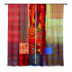 """DiaNoche Designs - Window Curtains Unlined - Hooshang Khorasani Color Storm Abstraction III - DiaNoche Designs works with artists from around the world to print their stunning works to many unique home decor items.  Purchasing window curtains just got easier and better! Create a designer look to any of your living spaces with our decorative and unique """"Unlined Window Curtains."""" Perfect for the living room, dining room or bedroom, these artistic curtains are an easy and inexpensive way to add color and style when decorating your home.  The art is printed to a polyester fabric that softly filters outside light and creates a privacy barrier.  Watch the art brighten in the sunlight!  Each package includes two easy-to-hang, 3 inch diameter pole-pocket curtain panels.  The width listed is the total measurement of the two panels.  Curtain rod sold separately. Easy care, machine wash cold, tumble dry low, iron low if needed.  Printed in the USA."""