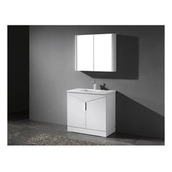 "Madeli - Madeli Savona-36"" Bathroom Vanity for Quartzstone Top - Glossy White - Madeli brings together a team with 25 years of combined experience, the newest production technologies, and reliable availability of it's products. Featuring sleek sophisticated lines Madeli vanities are also created with contemporary finishes and materials. Some vanities also feature Blum soft-close hardware. Madeli also includes a Limited 1 Year Warranty on Glass Vessels, Basin, and Counter Tops. Elegance and sophistication are just two words to describe the Savona Collection. Featuring a distinctive, geometric design with unique vertical handle and polished chrome legs, it's sure to add a sense of modern, European flair to your bath. The beauty and warmth of the polyurethane protected solid wood veneer in a Walnut or Glossy White finish accentuate its timeless design, and sets off the beauty of the integrated counter and basin. Two soft-closing doors open to a spacious interior and a concealed interior drawer.Features Base vanity with Blum Soft Close hinge drawer inside Glossy White finish Polished Chrome handle and leg finish 1-1/4""H Quartzstone Countertops come in White or Soft Grey finish Quartzstone Countertops come with single faucet or 8"" widespread faucet holesCeramic undermount sink with overflow Faucet and drain are not includedNo backsplash Matching mirror and medicine cabinet available Limited 1 Year Warranty on Glass Vessels, Basin, and Counter Tops How to handle your counterSpec SheetInstallation Instructions"