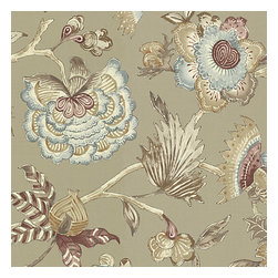 Gray & Purple Watercolor Floral Sateen Fabric - Transitional watercolor floral in tranquil grays, purples & blues.Recover your chair. Upholster a wall. Create a framed piece of art. Sew your own home accent. Whatever your decorating project, Loom's gorgeous, designer fabrics by the yard are up to the challenge!
