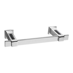 Windisch - Black Crystal 15 Inch Towel Bar In Chrome - Stylish contemporary style wall mounted bathroom towel holder.