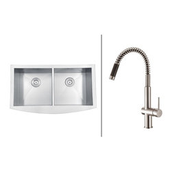 Ruvati - Ruvati RVC2469 Stainless Steel Kitchen Sink and Stainless Steel Faucet Set - Ruvati sink and faucet combos are designed with you in mind. We have packaged one of our premium 16 gauge stainless steel sinks with one of our luxury faucets to give you the perfect combination of form and function.
