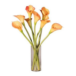 Calla Lilies in Tall Glass with Acrylic Water - About VickermanThis product is proudly made by Vickerman, a leader in high quality holiday decor. Founded in 1940, the Vickerman Company has established itself as an innovative company dedicated to exceeding the expectations of their customers. With a wide variety of remarkably realistic looking foliage, greenery and beautiful trees, Vickerman is a name you can trust for helping you create beloved holiday memories year after year.