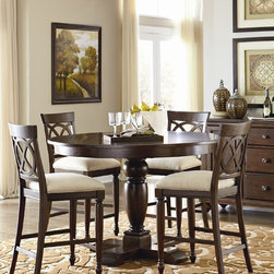 ART Furniture - Sutton Bay Round Dining in Counter Height Set - ART-152225-2608T - Set Includes Table and 4 Counter Height Chairs