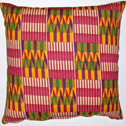 African  wax print pillow covers - African styled and made wax printed cotton pillow covers. Fabric made in Ghana West Africa