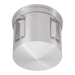 CSL - Compass Wall Mount - Compass Wall Mount features a diecast aluminum frame with an optic glass lens, available in a bronze or satin aluminum finish. One 35-watt, 120 volt G9 JCD kypton xenon bulb is required, but not included. ADA compliant. Dimensions: 5W x 5H x 4D.
