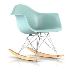 Herman Miller - Herman Miller | Eames® Molded Plastic Rocker Chair, Maple Rockers - Quick Ship - Design by Charles & Ray Eames, 1948.