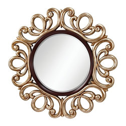 Murray Feiss - Murray Feiss MR1132MHG/ASL Courtney Mahogany /Antique Silver Mirror - Murray Feiss MR1132MHG/ASL Courtney Mahogany /Antique Silver Mirror