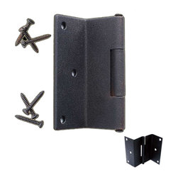 Renovators Supply - Shutter Hinges Black Wrought Iron Shutter Hinge - This outstanding shutter hinge is crafted of wrought iron for a fabulous modern sleek look or for that Old Colonial charm. Our exclusive RSF coating protects this item for years to come. Mounting hardware included. Sold individually.