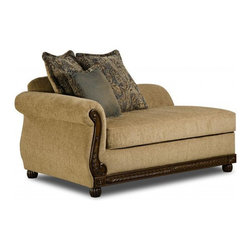 Simmons - Made to Order Simmons Upholstery Outback Chaise - Lie down and read a book or simply relax on this classic Outback chaise. Designed with a wood panel accent,this chic lounge furniture is completed with a comfortable foam filling.