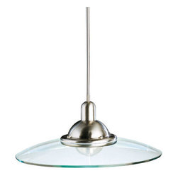Kichler - Kichler 2640NI Galaxie Single-Bulb Indoor Pendant with Round Glass Shade - Product Features: