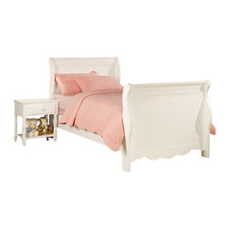 Coaster - Coaster Pepper 3 Piece Youth Sleigh Bedroom In White - Coaster - Kids Bedroom Sets - 400360X3PGK - Coaster Pepper Night Stand in White (included quantity: 1) The Pepper collection uses relaxed curves and a touch of ornamentation to create a pleasing space for sleep, homework and hanging out with friends. Finished in a crisp white, this group is available as a sleigh or post bed.
