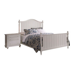 Broyhill - Broyhill Hayden Place Panel Bed 2 Piece Bedroom Set in White - Broyhill - Bedroom Sets - 46492PcPanelBedSet - Broyhill Hayden Place 2 Drawer Night Stand in White (included quantity: 1) About This Product:�
