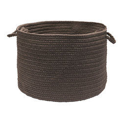 """Colonial Mills, Inc. - Brooklyn, Slate Utility Basket, 18""""X12"""" - Hold everything. This handled basket will help you hold, hide and haul just about everything indoors or out. Durable and adorable, the braided polypropylene is stain and fade resistant in stylish, understated gray. Pick up a few. They're sure to add great-looking texture and functional simplicity to your rooms and life."""