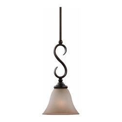 Sea Gull Lighting - 1-Light Mini-Pendant Russet Bronze - 61360-829 Sea Gull Lighting Rialto 1-Light Mini-Pendant with a Russet Bronze Finish