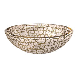 "Maestrobath - Atelier Kalahari European Bathroom Sink, Gold White - Perfected by the ""Florence Glass Atelier"" project which allows for colors and textures to be embedded within the crystal, the ada compliant bathroom sink offers an exquisite texture on the interior and exterior of its round, bowl shape. This fancy vessel sink comes in dark and light shades and offers an elegant and contemporary design to your space."