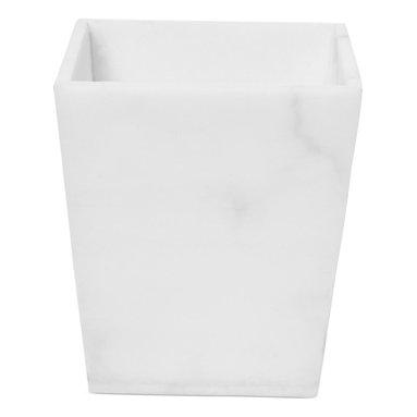 Roselli Trading Company Bath Accessories, Alabaster Trash Can -