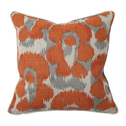 Orange Leopard Print Throw Pillow -